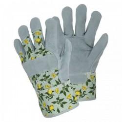 Dámské pracovní rukavice kožené - lemon