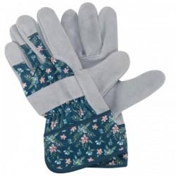 Dámské pracovní rukavice kožené - modré