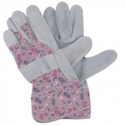 Dámské pracovní rukavice kožené - fialové