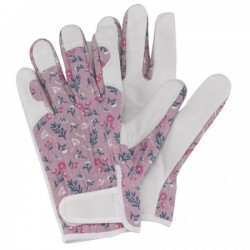Dámské kožené rukavice se suchým zipem - fialové