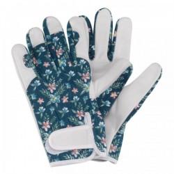 Dámské kožené rukavice se suchým zipem - modré
