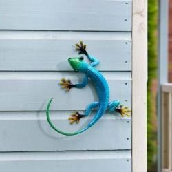 Dekorace na zahradní zeď/plot - ještěrka azurová