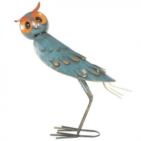 Dekorace do zahrady - sova modrá