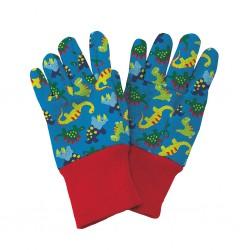 Dětské pracovní rukavičky Dinosaurus - modré