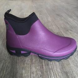 Dámské nízké holinky s neoprenem - fialové