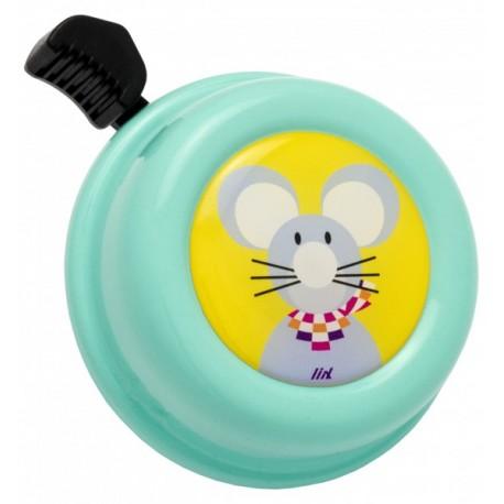 Kovový zvonek na kolo - myška