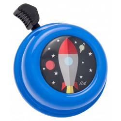 Kovový zvonek na kolo - raketa