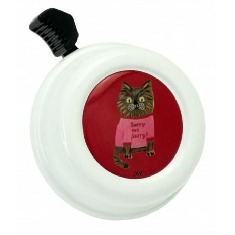 Kovový zvonek na kolo - kočka