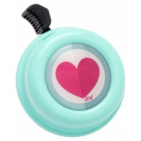 Kovový zvonek na kolo - srdce