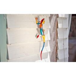 Dekorace na zahradní zeď/plot - ještěrka dlouhá