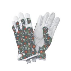 Dámské kožené rukavice -luční květy
