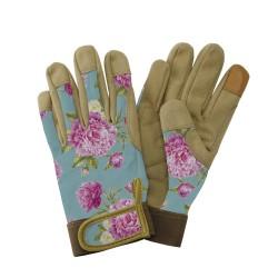 Dámské pracovní kožené rukavice - pivoňka