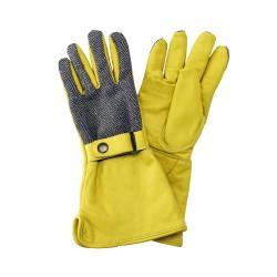 Luxusní kožené dámské rukavice s prodlouženou manžetou