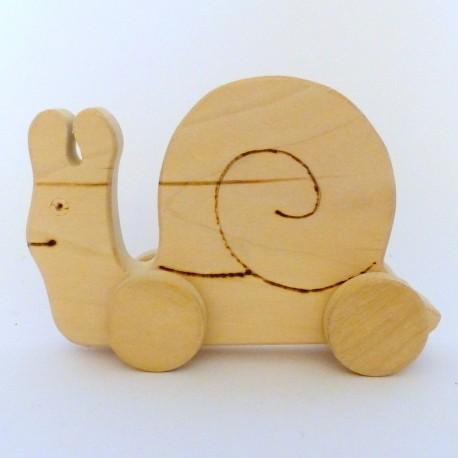 Dřevěné hračky - hlemýžď
