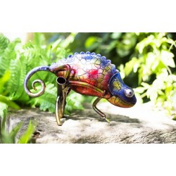 Dekorace do zahrady - chameleon Tanzania