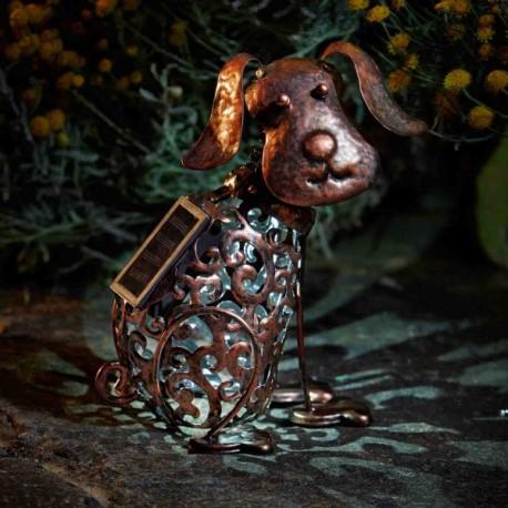 Dekorace do zahrady s LED osvětlením - pes