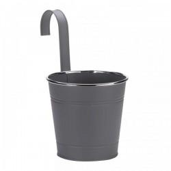 Závěsný květináč - šedý