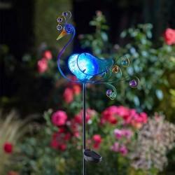 Solární dekorace na zahradu - páv