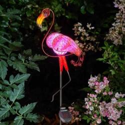 Solární dekorace na zahradu - plameňák