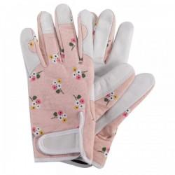 Dámské kožené rukavice se suchým zipem - luční