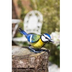 Dekorace do zahrady - sýkora modřinka