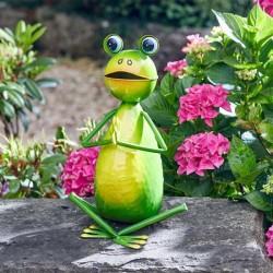 Dekorace do zahrady - jóga žába