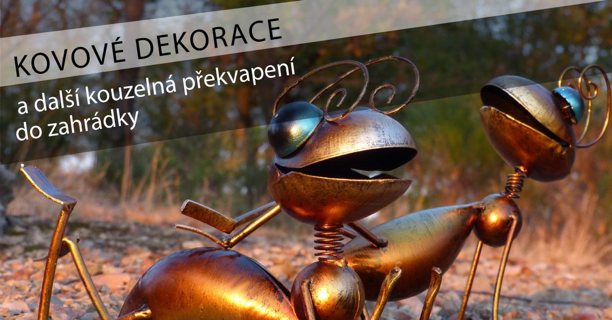 Kovoví mravenci dekorace- překvapení na zahrádku
